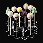 Cake Pop Stand Display, 21 Hole Clear Acrylic Lollipop Holder Weddings Baby Showers Birthday Parties Anniversaries Halloween Candy Decorative