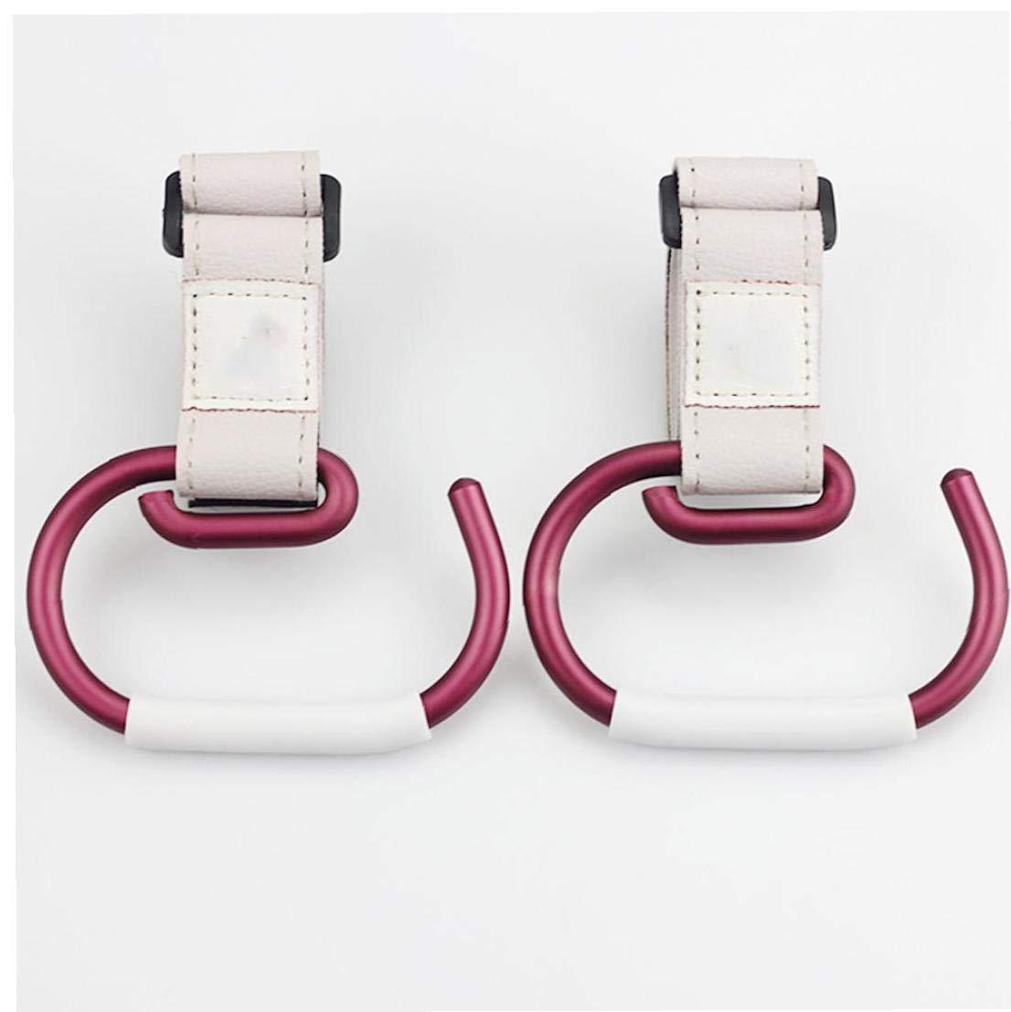 Gancho de la carretilla del cochecito gancho ajustable clip flexible cochecito Percha universal pr/áctico gancho Multi Purpose Hanger rojo y blanco