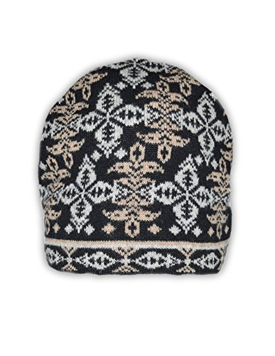 Invisible World 100% Cashmere Jacquard Knit Beanie Cap Chandelier Earth