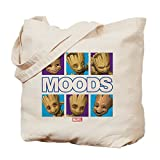 CafePress - GOTG Groot Moods - Natural Canvas Tote Bag, Cloth Shopping Bag
