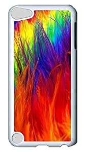 Brian114 Case, iPod Touch 5 Case, iPod Touch 5th Case Cover, Colourful Feathers%20 Retro Protective Hard PC Back Case for iPod Touch 5 ( white )