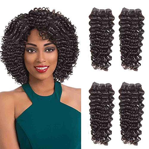 SLEEK 4 Bundles of Jerry Curl Weave Human Hair (12