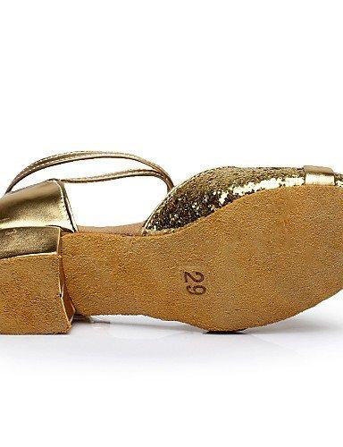 ShangYi Chaussures de danse ( Argent / Or ) - Non Personnalisables - Talon Bottier - Flocage - Ventre / Latine / Salsa Silver ThUtOXSMhk
