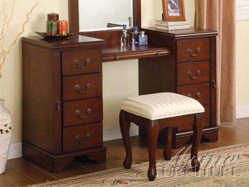 Louis Philippe Cherry Dresser (Acme 06565 Louis Philippe Cherry  Vanity And Bench Set)