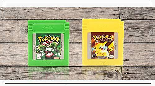 Nintendo GB GBC Game Pokemon YELLOW POKEMON for Nintendo Game Boy Color GBA GBC w/ Case