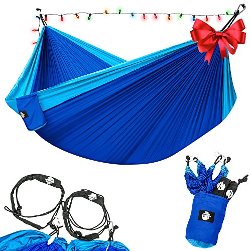 legit-camping-double-hammock-with-nylon-straps-and-steel-carabiners-light-blue-blue