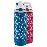 Contigo Ashland 20 oz. Glass Water Bottle, 2-pack, Dark Blue/Pink