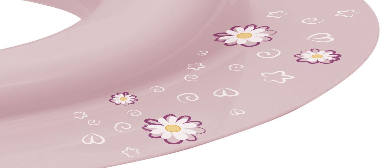 mit Sch/äfchen Motiv Kinder Toilettensitz Trend in rosa BIECO 11181706 ab 8 Monate bis etwa 4 Jahre 32 x 36,5 x 5 cm ca