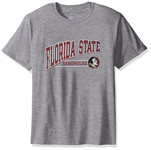 NCAA Florida State Seminoles Men's Champ Short Sleeve T-Shirt 4, Large, Oxford - State Basketball Champs
