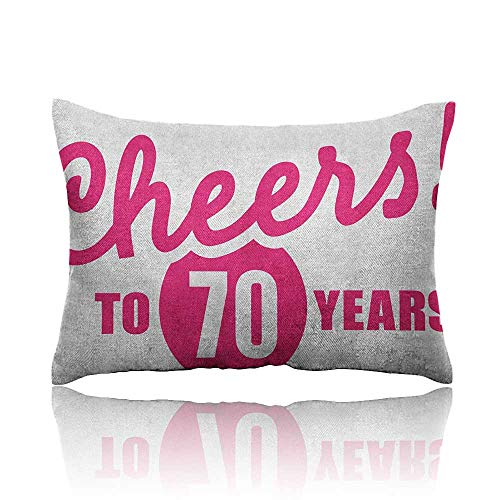 - Anyangeight 70th Birthday Cars Pillowcase Cheers to 70 Years Old Hand Written Calligraphy Birthday Party Image Youth Pillowcase 14