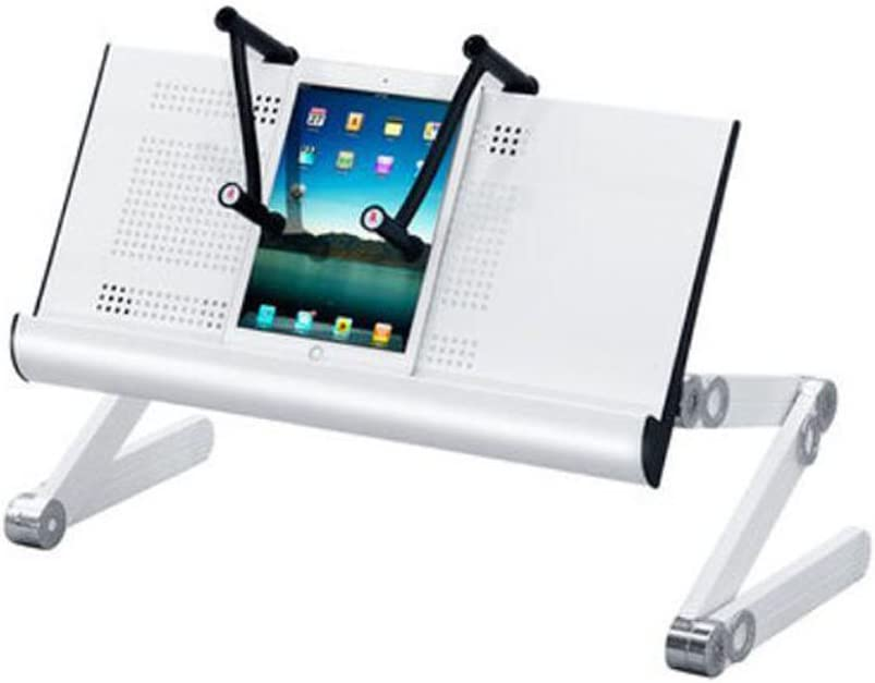 Color : Rose red Folding Laptop Desk Portable Bed Table Laptop Stand Aluminum Desk Adjustable Notebook Stand 5623.553cm
