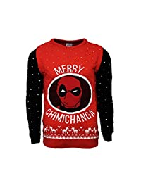 Official Marvel Deadpool Merry Chimichanga Christmas Jumper/Ugly Sweater