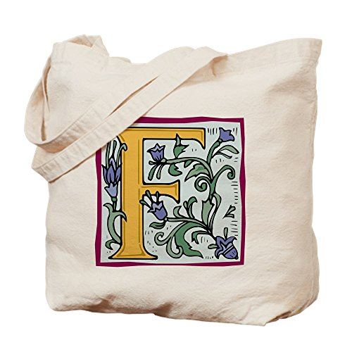 CafePress - Garden F In Gold - Natural Canvas Tote Bag, Clot