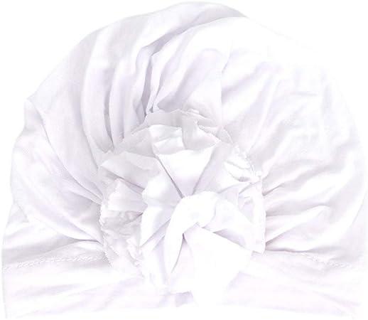 Youliy - Gorro de algodón con nudo suave para bebé y niña, accesorio para fotografía, gorro, turbante blanco: Amazon.es: Hogar