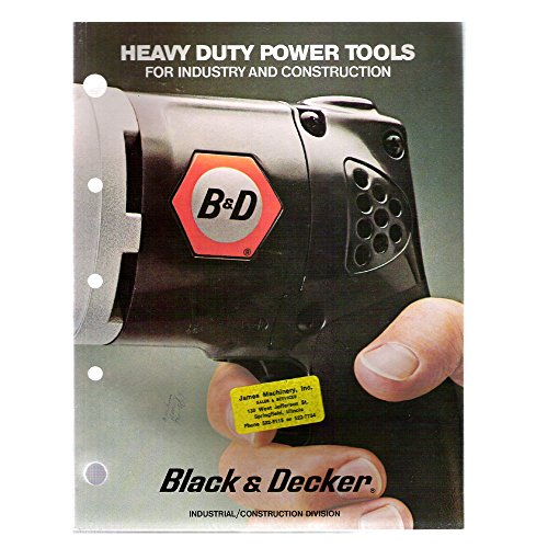 Original 1970's James Machinery, Inc. Black & Decker Heavy Duty Power Tools For Industry And Construction Dealers Product Catalog No. PE-7R