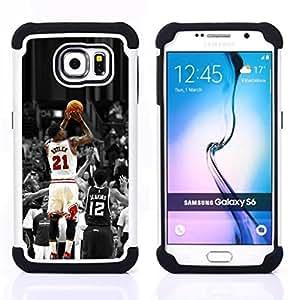 For Samsung Galaxy S6 G9200 - 21 Butler Bulls H???¡¯????brido Protecci???¡¯????n completa dual de alto impacto Capa Funda - Cash Case -