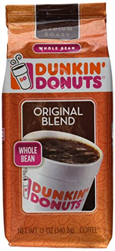 Dunkin' Donuts Original Blend Medium Roast Whole Bean Coffee 12 OZ (Pack of 12) by Dunkin' Donuts