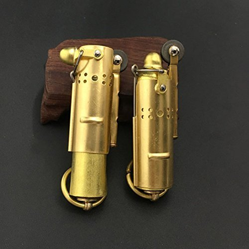 Youfeel Trench Lighter Replica - Solid Brass- WWI - WWII - Vintage Style 2 Pack ()