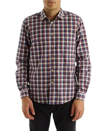 Faconnable - Chemises Cintrées - Homme - Chemise à carreaux bleu et rouge -  M 222219d3b00e