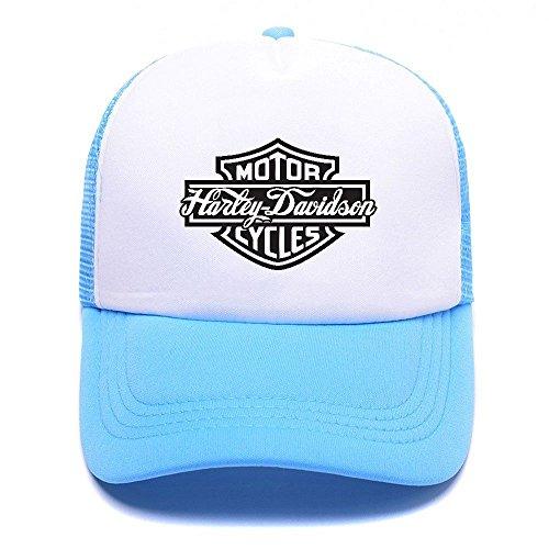 Harley D Black Baseball Caps Gorras de béisbol Trucker Hat Mesh Cap For Men Women Boy Girl 002 Sky Blue