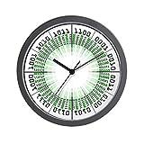CafePress – Binary Modern Clock – Unique Decorative 10″ Wall Clock