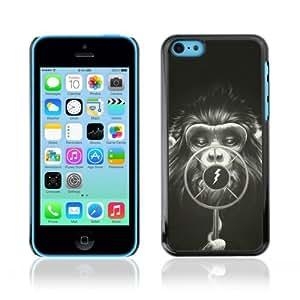 Designer Depo Hard Protection Case for Apple iPhone 5C / Cool Monkey Radio Art