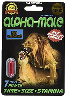 Super Strength:alpha-male 4000 Gold Sexual Performance Enhancer