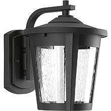 Progress Lighting P6078-3130K9 Contemporary/Soft 1-9W Led Wall Lantern, Black