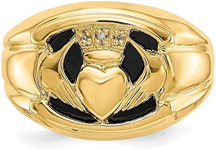 Men's 14k Yellow Gold Diamond Ring, Size 10