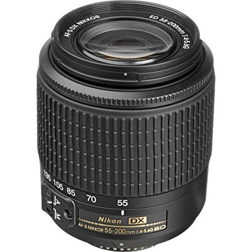 Nikon 2156B AF-S DX Zoom-NIKKOR 55-200mm f/4-5.6G ED Lens wi
