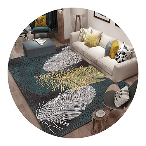 Nordic Style Geometric Pattern Carpet Large Size Living Room Bedroom Tea Table Rugs,1,80x100cm