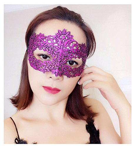 Princess Tutu Anime Costume (Lace Eye Mask Masquerade Costume - Sexy Party Prom Ball Halloween Black Womens Girls Sturdy & Fixed Shape)