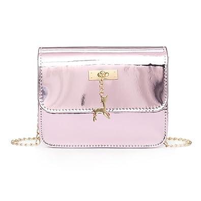 2018 Cheap Fashion Messenger Bag, Womens Leather Crossbody Bag Small Deer  Laser Shoulder Bags ( 95eb174423
