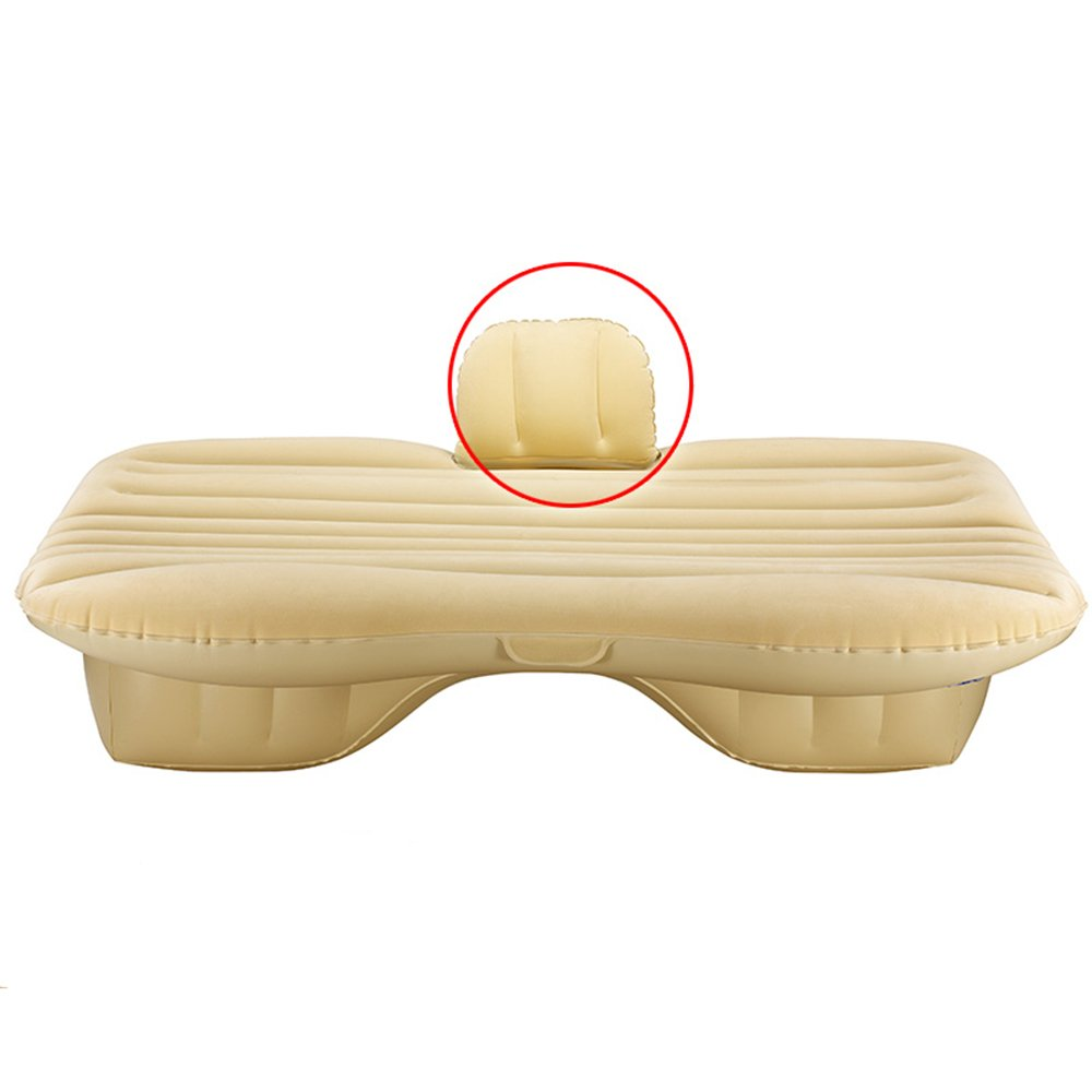 ZXQZ Auto Aufblasbare Bett SUV Universal Luftbett Erwachsene Outdoor Reisebett Tragbare Hinten Auspuff Pad Bett Aufblasbares Bett (Farbe : Beige, größe : 2 )
