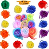 Juggling Scarves Dance Scarves Magic Tricks Performance Props Accessories Movement Scarves for Kids and Adults,24 by 24 Inches (12 Colors)