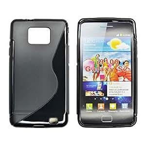 Bluetrade BT-TPU-SI9100BBS - Funda TPU para Samsung I9100 Galaxy S2, color negro
