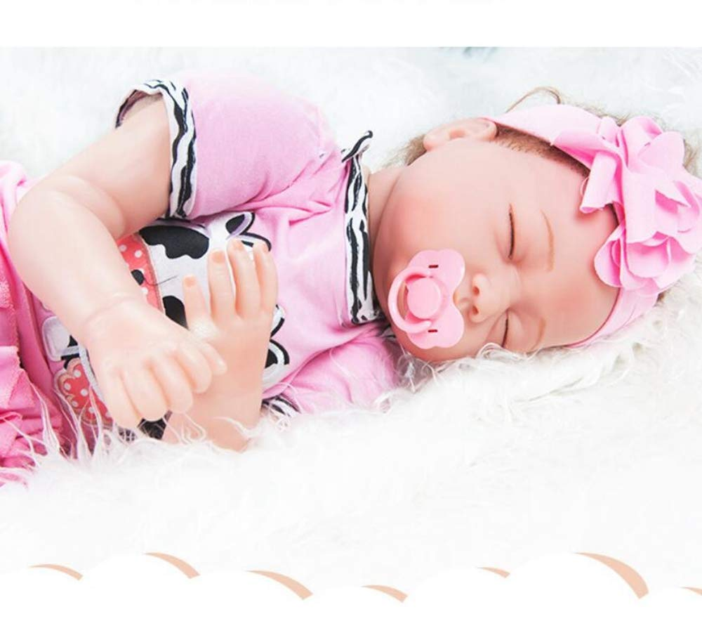 Hongge Reborn Baby Doll,Simulación bebé renacido muñeca Realista bebé recién Nacido Juguete Regalo 55cm