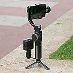 Ulanzi Mini Tripod Stand Handle Grip Monopod Selfie Stick for ZHIYUN Smooth 4/ Feiyu SPG 2 /DJI OSMO Pocket Moza Mini-Mi Gimbal Stabilizer 8