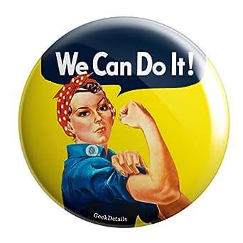 """Geek Details Rosie the Riveter World War II 2.25"""" Pinback Button"""