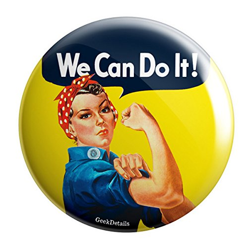 "Geek Details Rosie the Riveter World War II 2.25"" Pinback Button"