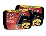 roman noodle cooker - Rapid Ramen Cooker - Microwave Instant Ramen Noodles in 3 Minutes (Pack of 2) (Packaging may vary)