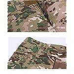 QCHENG Chemise de Combat Militaire Homme Airsoft Shirt Tenue Camouflage Uniforme Tactique Séchage Rapide à Manches… 12