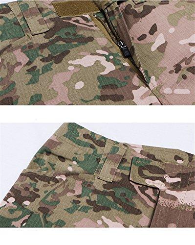 QCHENG Chemise de Combat Militaire Homme Airsoft Shirt Tenue Camouflage Uniforme Tactique Séchage Rapide à Manches… 5
