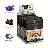 #4: BevGrow - Sunnystreet Waffles Organic Protein Waffle 8 Variety Snack Pack: 2x Coconut 3x Blueberry 3x Chocolate