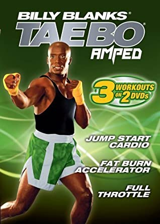 Tae Bo Amped: 3 Workouts on 2 DVDs - Jump Start Cardio, Fat Burn Accelerator, and Full Throttle by Billy Banks