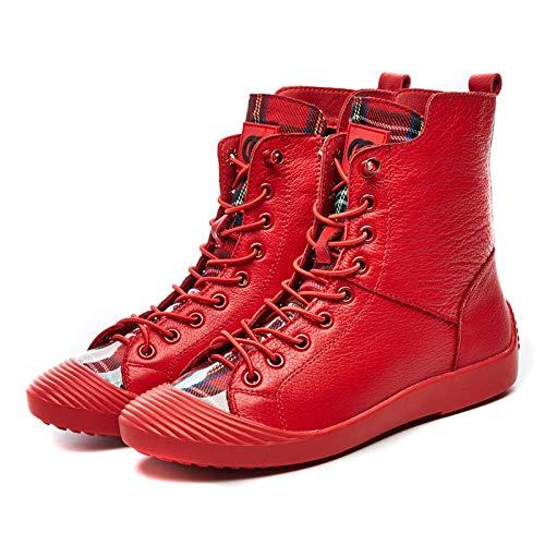 A Otoño Llevar La Cabeza Para Ayudar Ocasional Tablero Botas Mujer Fondo Red Zapatos Salvaje Plano Correa Cáscara De Estudiante Alto Hoesczs tq7vwPgn