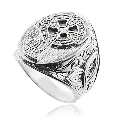 - Silver Celtic Cross Trinity Knot Ring (16)