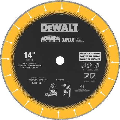 Diamond Edge Saw Blade (DEWALT DW8500 14-Inch by 1-Inch Diamond Edge Chop Saw Blade)