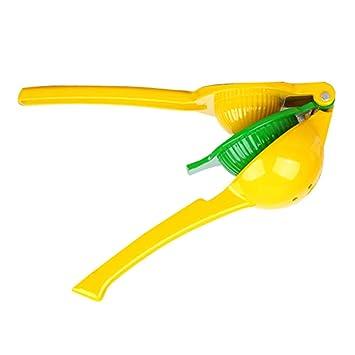 Compra lzndeal Exprimidor de limón multifuncional 2 en 1 Exprimidor de cítricos de naranja de aleación de aluminio de mano en Amazon.es