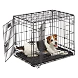 "Dog Crate | MidWest iCrate 24"" Double Door Folding..."
